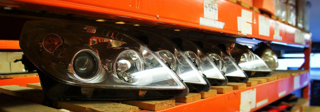 Reclaimed car headlights